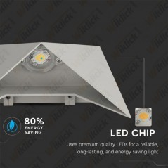 V-TAC VT-825 Lampada LED da Muro a Tasca 5W Colore Grigio 3000K IP65 - SKU 8284