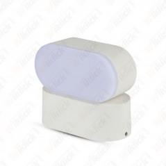 V-TAC VT-816 Lampada LED da Muro Ovale 6W Colore Bianco con Testa Ruotabile 3000K IP65 - SKU 8286