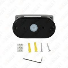 V-TAC VT-816 Lampada LED da Muro Ovale 6W Colore Nero con Testa Ruotabile 3000K IP65 - SKU 8288