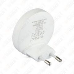 V-TAC VT-83 Faretto Chip Samsung Segnapasso Notturno 0,45W con Sensore Crepuscolare Colore Bianco 3000K IP20 - SKU 828