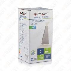 V-TAC VT-826 Lampada LED da Muro 6W Doppio Fascio Luminoso Colore Nero 3000K IP65 - SKU 8297
