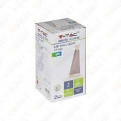 V-TAC VT-826 Lampada LED da Muro 6W Doppio Fascio Luminoso Colore Grigio 3000K IP65 - SKU 8299