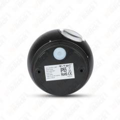 V-TAC VT-836 Lampada LED da Muro Sferica 6W Doppio Fascio Luminoso Colore Nero 3000K IP65 - SKU 8303