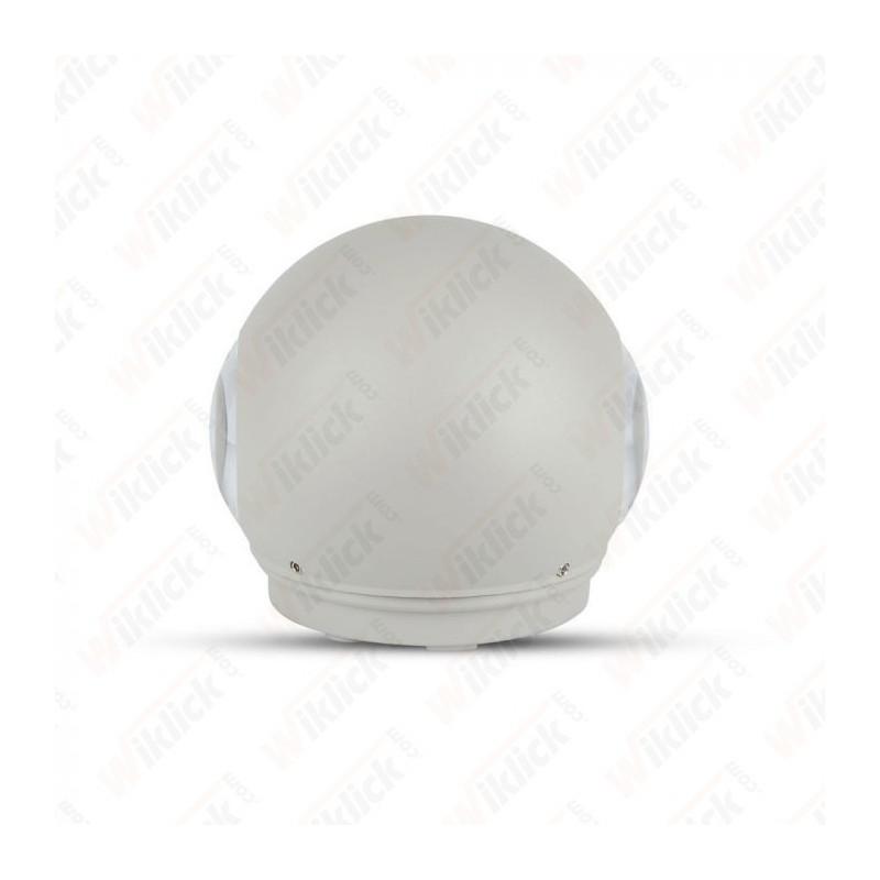 V-TAC VT-836 Lampada LED da Muro Sferica 6W Doppio Fascio Luminoso Colore Grigio 3000K IP65 - SKU 8305