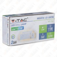 V-TAC VT-712 Lampada LED da Muro 12W Colore Bianco 3000K - SKU 8202