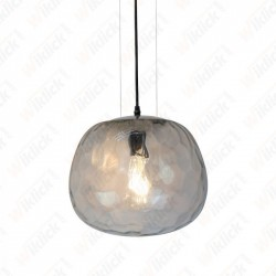 Pendant Designer Light Glass Round Shape Bulb Down