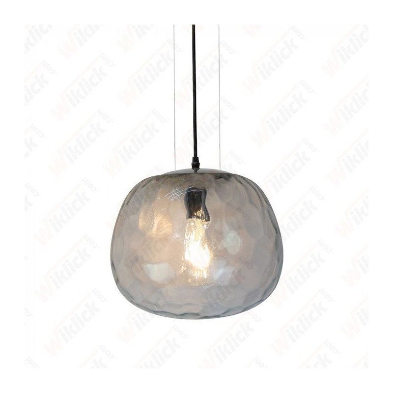 Pendant Designer Light Glass Round Shape Bulb Down