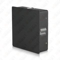 V-TAC VT-704 Lampada LED da Muro Quadrato 4W Colore Nero 3000K IP65 - SKU 8211