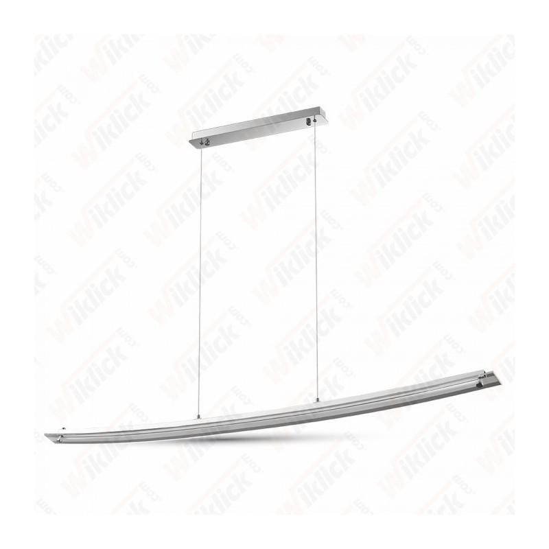 18W Designer Bend Glass Pendant Light Chrome 4000K