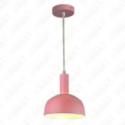 Plastic Pendant Lamp Holder E27 With Slide Aluminum Shade Pink
