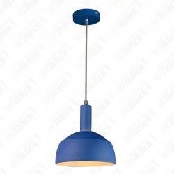 Plastic Pendant Lamp Holder E27 With Slide Aluminum Shade Blue