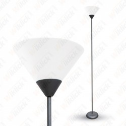 Floor Lamp E27 60W Black Body - NEW