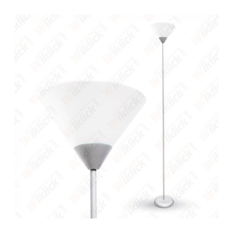 Floor Lamp E27 60W Silver Body - NEW