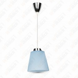 5W Pendant Light Chrome Body + Blue Shade