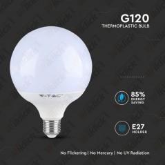 V-TAC PRO VT-288 Lampadina LED Chip Samsung E27 18W A++ G120 3000K - SKU 123