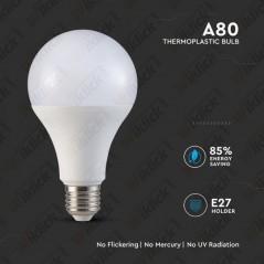 V-TAC PRO VT-298 Lampadina LED Chip Samsung E27 18W A++ A80 6400K - SKU 128