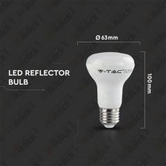 V-TAC PRO VT-263 Lampadina LED Chip Samsung E27 8W Reflector R63 4000K - SKU 142