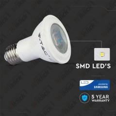 V-TAC PRO VT-220 Lampadina LED Chip Samsung E27 7W PAR20 6400K - SKU 149