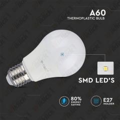 V-TAC PRO VT-209 Lampadina LED Chip Samsung E27 9W A58 4000K - SKU 157