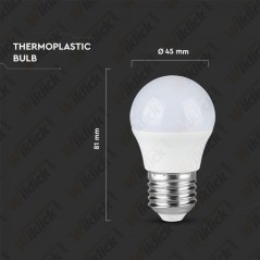 V-TAC PRO VT-246 Lampadina LED Chip Samsung E27 5,5W G45 4000K - SKU 175