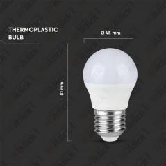 V-TAC PRO VT-246 Lampadina LED Chip Samsung E27 5,5W G45 6400K - SKU 176
