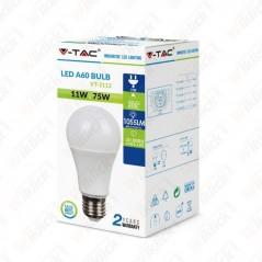 V-TAC PRO VT-211 Lampadina LED Chip Samsung E27 11W A58 3000K - SKU 177