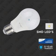 V-TAC PRO VT-285 Lampadina LED Chip Samsung E27 8,5W A++ A60 3000K - SKU 252