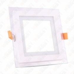 12W LED Panel Downlight Glass - Square 6400K