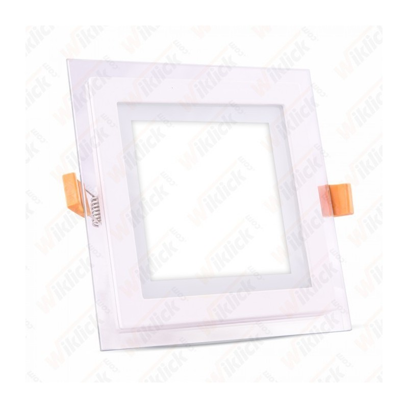 12W LED Panel Downlight Glass - Square 6400K