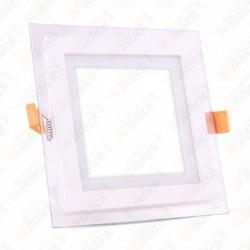 18W LED Panel Downlight Glass - Square 3000K
