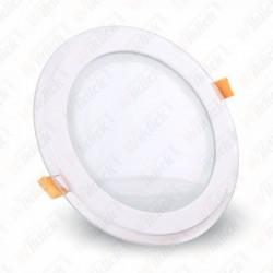 18W LED Panel Downlight Glass - Round 3000K