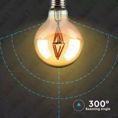 V-TAC VT-2004 Lampadina LED E27 4W G80 Filamento Ambrato 2200K - SKU 7148