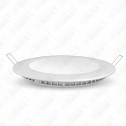 12W LED Premium Panel Downlight - Round 3000K