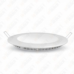12W LED Premium Panel Downlight - Round 6400K