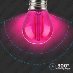 V-TAC VT-2132 Lampadina LED E27 2W G45 Filamento Colore Rosa - SKU 7410