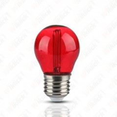 V-TAC VT-2132 Lampadina LED E27 2W G45 Filamento Colore Rosso - SKU 7413