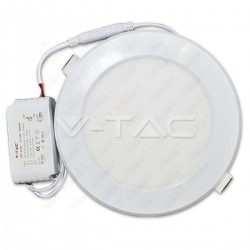 12W LED Plastic Panel Downlight - Round 6000K