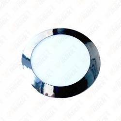 18W LED Slim Panel Light Chrome Round 3000K