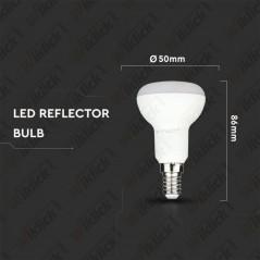 V-TAC PRO VT-250 Lampadina LED Chip Samsung E14 6W R50 6400K - SKU 140