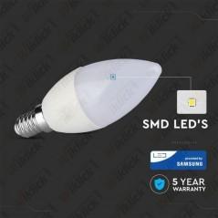 V-TAC PRO VT-226 Lampadina LED Chip Samsung E14 5,5W Candela 3000K - SKU 171