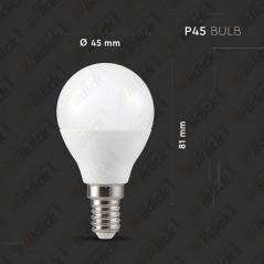 V-TAC SMART HOME VT-5154 Lampadina LED E14 4,5W P45 Google Home e Amazon Alexa Smart RGB e 3 in 1 Dimmerabile - SKU 2756