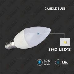 V-TAC VT-1855 Lampadina LED E14 5,5W Candela 6400K - SKU 42411