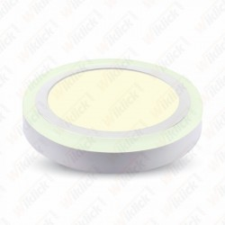 6W+2W LED Surface Panel Downlight - Round 6000K       EMC+CR80