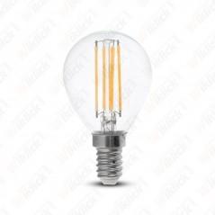 V-TAC VT-1996 Lampadina LED a Filamento E14 4W E14 4W P45 Vetro Trasparente  6400K - SKU 4426