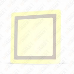 6W+2W LED Surface Panel Downlight - Square 3000K     EMC+CR80
