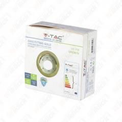 V-TAC VT-715 Portafaretto LED da Incasso Rotondo GX53 Colore Oro - SKU 3676