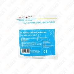 V-TAC VT-7889 Portalampada LED in Ceramica GU5.3(MR16) Colore Bianca con Cavo in Silicone (Confezione 5 Pezzi) - SKU 36265