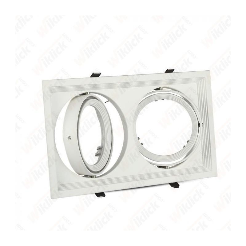 V-TAC VT-7222 Porta AR111 Doppio Orientabile Colore Bianco - SKU 3576