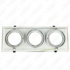 V-TAC VT-7223 Porta AR111 Triplo Orientabile Colore Bianco - SKU 3577