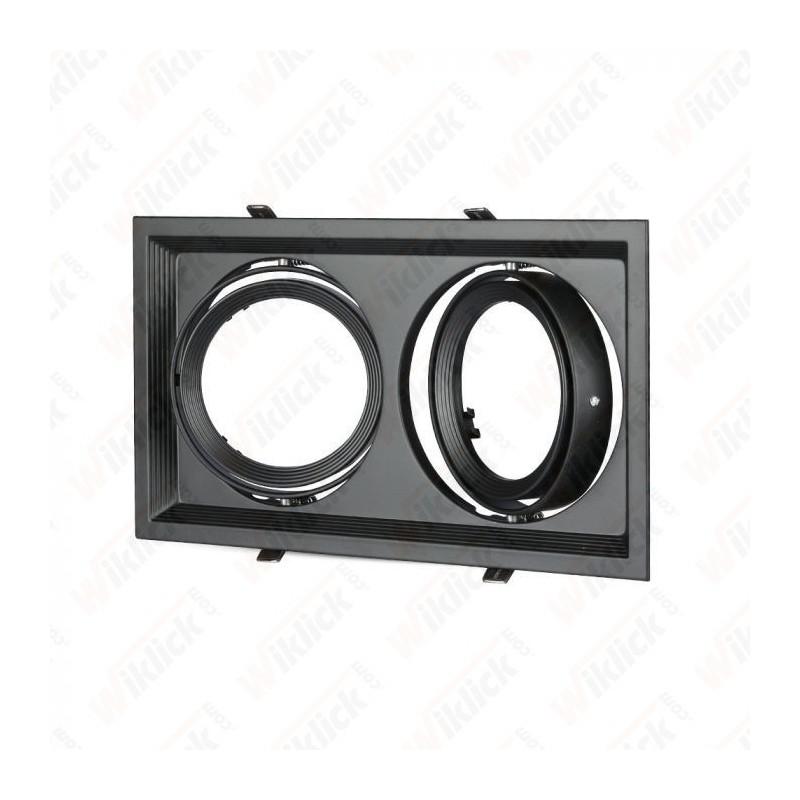 V-TAC VT-7222 Porta AR111 Doppio Orientabile Colore Nero - SKU 3582